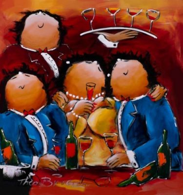 Theo Broeren Schilderij la vie est belle