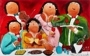 Schilderij Dikke Dames 2