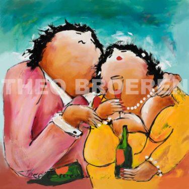 Theo Broeren dikke dames schilderij