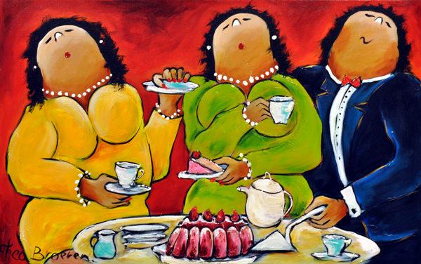 Theo Broeren Dikke Dames Schilderij 2